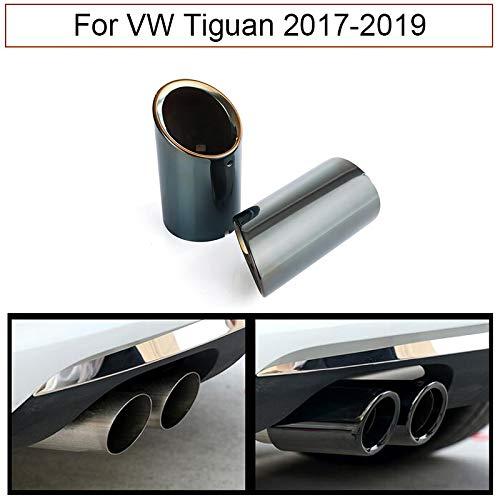 Silenciador de tubo de escape para coche, 2 unidades, color negro cromado Para Tiguan 2017-2019