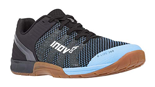 Inov-8 F-Lite 260 Knit - Multipurpose Cross Training Shoes - Athletic Shoe for Gym, Training and Weight Lifting - Wide Toe Box - Blue/Gum 12 M UK