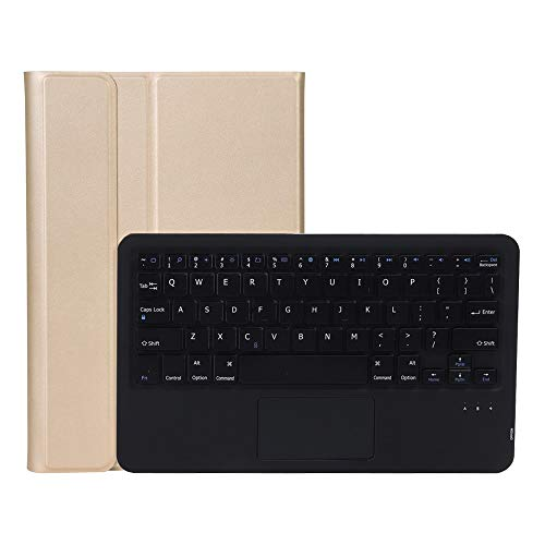 HHF Pad Accesorios para Samsung Galaxy Tab S6 Lite, Split Touch Bluetooth Keyboard Flip Tablet Funda PU Cuero Stand PC Shell para Samsung Galaxy Tab S6 Lite P615 P610 (Color : Gold Black Keyboard)