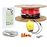 Dr Infrared Heater DR-9FH1110 Electric Radiant Floor Heating Cable Kit, 110 SQFT / 120 Volt, Red & Black