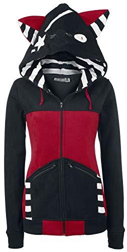 Bye Bye Kitty Star Kitty Frauen Kapuzenjacke schwarz/rot S 100% Polyester Rockwear
