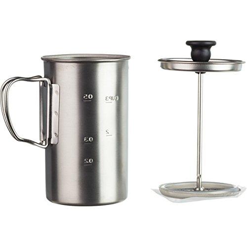 Snow Peak Men's Titanium Coffee Press, Silver, One Size