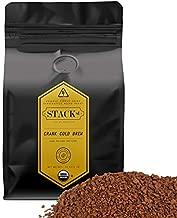 Organic Cold Brew Coffee Coarse Ground 1 LB - CRANK High Voltage Caffeine Dark Roast, Coarse Grind – By Stack Street