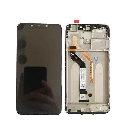 Pantalla LCD de 6.2 pulgadas con marco para Xiaomi Pocophone F1 pantalla LCD con sensor táctil digitalizador ensamblaje de reemplazo de pantalla de teléfono (color : sin marco negro)