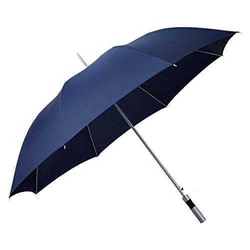 YF Outdoor Golf Automatico Aperto di Stile Classico Extra Large Protezione Antivento Anti-Vento Protezione Lunga Ombrello da Lavoro Ombrello da Uomo (Colore : Blu)