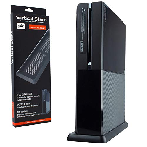 Vented Vertical Stand Mount Holder Cradle for Xbox One Console Black