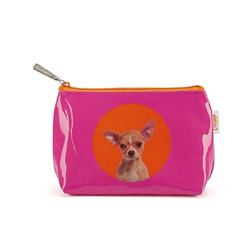 Catseye make-up tas spot chihuahua kleine tas premium hond mapje tas klein etui nieuw
