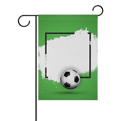 ZT-shop Football Garden Flag Doppelseitige Hofdekoration Polyester Outdoor Flag Home Party, 5,12x18 (in)
