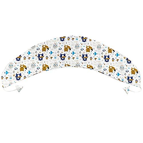 Stillkissenbezug für Totsy Baby Stillkissen - XXL Bezug für Seitenschläferkissen Schwangerschaftskissen Lagerungskissen (Tiermotiv, Baumwolle)