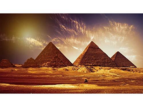 Oedim Fototapete Wand Pyramiden Ägypten | Verschiedene Maße 350 x 250 cm | Dekor Esszimmer, Wohnzimmer, Zimmer
