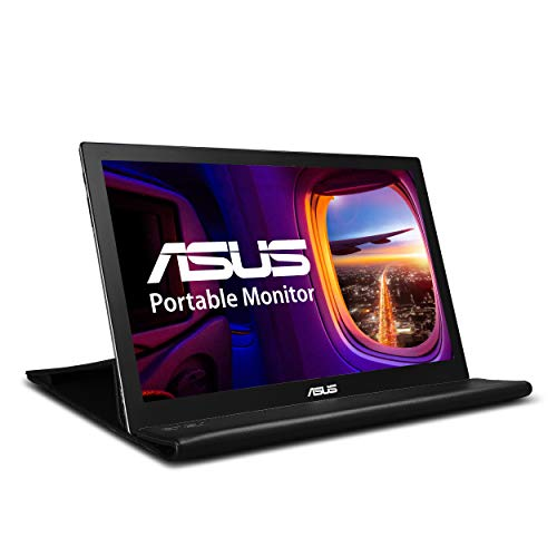 "ASUS 15.6"" 1080P Portable Monitor (MB169B+) - Full HD, IPS, Auto-rotatable, Smart Case, Ultra-slim, Lightweight, Sleek, USB 3.0 Powered, For Laptop, PC, Phone, Console"