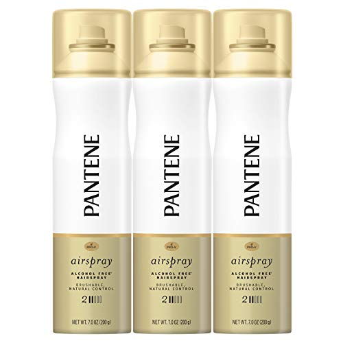 Pantene Airpsray Hairpspray, Smooth Finish, Pro-V Level 2 Airspray, 7 Fl Oz, Triple Pack