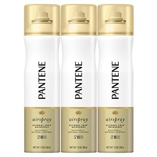 Pantene Airpsray Hairpspray, Smooth Finish, Pro-V Level 2 Airspray, 7 Fl Oz, Triple Pack