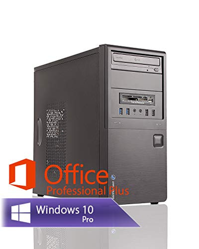 Ankermann Business günstig Silent PC Intel Core i5-3470 4X 3.2GHZ NVIDIA GeForce GT 16GB RAM 480GB SSD 500GB HDD Windows 10 PRO Leise W-LAN Office Professional