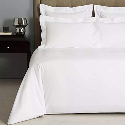 Linens Limited - Sábana 100% algodón Egipcio - Trama 400 Hilos - Blanco, King
