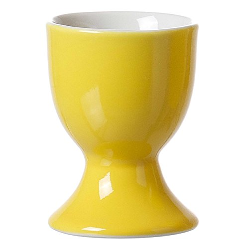 Ritzenhoff & Breker Doppio Eierbecher, Ei Becher, Eierhalter, Geschirr, Porzellan, Sonnengelb, 5 cm, 565065