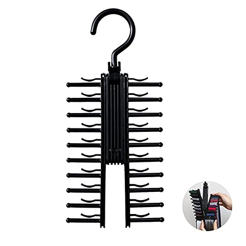Portacravatte da Armadio Estraibile Portacravatte Rotante Multifunzional Portacravatte Regolabile Organizer per Cintura Salvaspazio con Clip Antiscivolo per 20 Cravatte o Cinture per Riporre l'Armadio