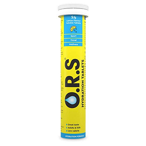 O.R.S Rehydration Salts Lemon Flavour Soluble Tablets Pack of 24