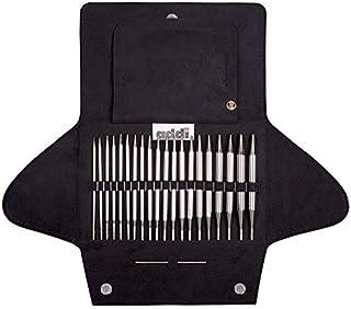 Addi Aiguilles à Tricoter circulaires interchangeables en métal Noir 25 x 17 x 3,5 cm