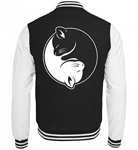 Chorchester Hochwertige College Sweatjacke - Das Yin und Yang für Katzen Fans!