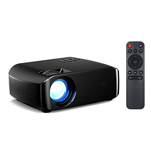 Fesjoy Proyector LED F10 compatible con Home Beamer Full HD 1080P Mini Home Cinema Proyector Wireless Display Support HD AV USB