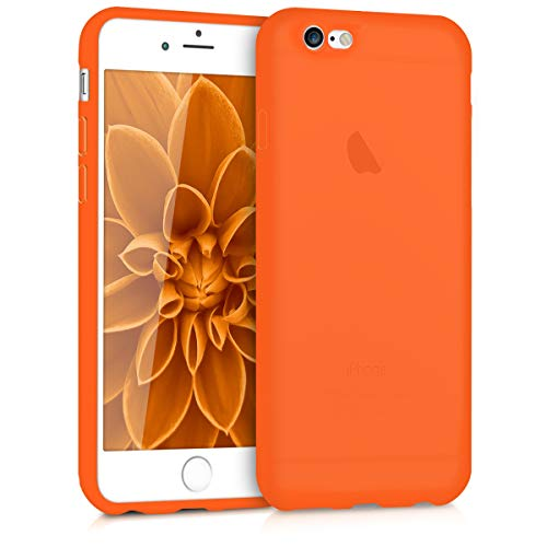 kwmobile Hülle kompatibel mit Apple iPhone 6 / 6S - Handyhülle - Handy Hülle in Neon Orange