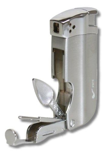 Pfeifenfeuerzeug Passatore BH-P1000 titan inkl. Lifestyle-Ambiente Tastingbogen