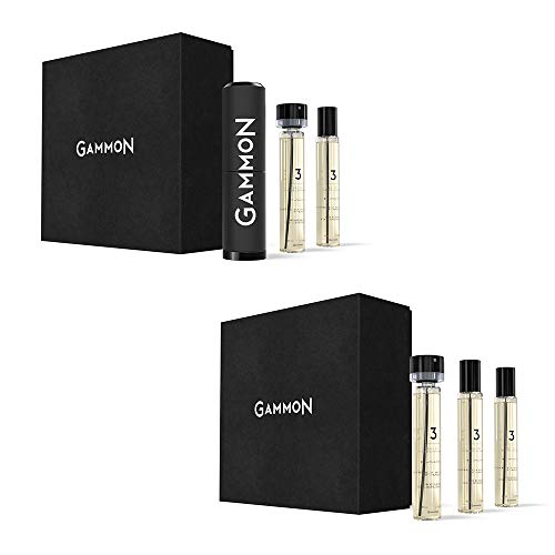 GAMMON 3 - THE LEATHER JACKET, Eau de Performance STARTER-SET + RECHARGE-SET, 5 x 20 ml Eau de Parfum für Herren/Männer - Amazon Exklusiv