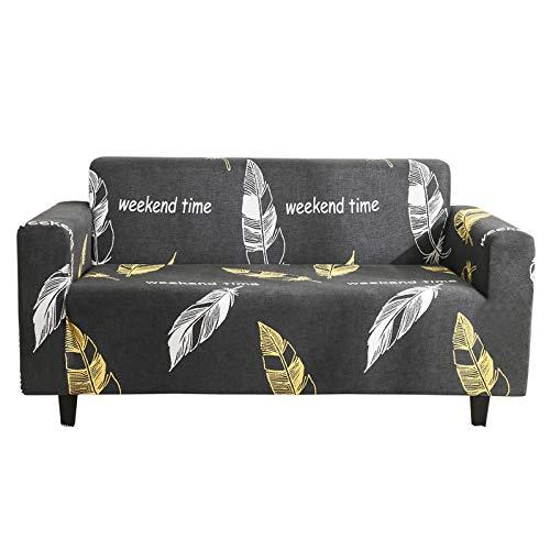 XHHXPY Funda para Sofá Elasticas de 1 2 3 4 Plazas Impresión Poliéster Suave Antideslizante Protector Cubierta de Muebles con Cuerda de Fijación,Style j,3 Seater