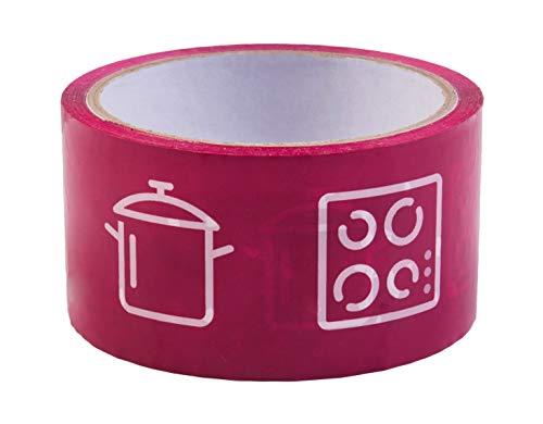 Easymove Umzugsklebeband - Küche - 40 m x 50 mm - Selbstklebend - Mit Symbolen zur einfachen Zuordnung - Ideal für Umzüge / Karton-Kennzeichnung / Farbiges Packband /  Karton-Aufkleber / B22204