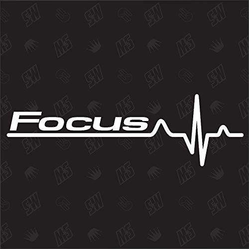 Focus Herzschlag - Sticker für Ford