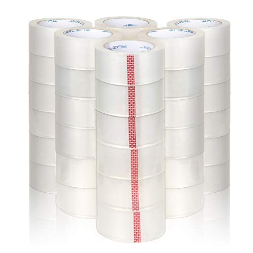 JARLINK Clear Packing Tape (36 Rolls), Heavy Duty Packaging Tape for Shipping Packaging Moving Sealing, Stronger & Thicker 2.8mil, 2 inches Wide, 65 Yards Per Roll, 2340 Total Yards