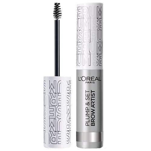 l Oréal Paris Plump & Set By Brow Artist Mascara Sopracciglia, Formula Waterproof No Transfer, Sopracciglia Definite, Smudge-Proof, 000 Transparent