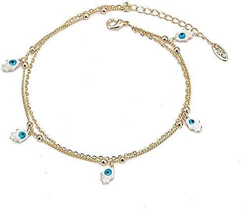 Ahuyongqing Co.,ltd Collar Mano Estrella Mariposa Tobillera Tobillera turca Mal de Ojo Pulsera de Tobillo para Mujeres niñas Regalo