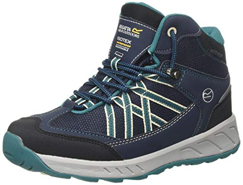 Regatta Chaussures Techniques Junior - Samaris, Hiking Boot garçon,Blue(Navy/Deep Lake)29 EU