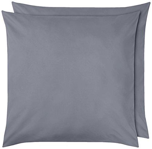 Amazon Basics Pillowcase, Dunkelgrau, 80 x 80 cm, 2