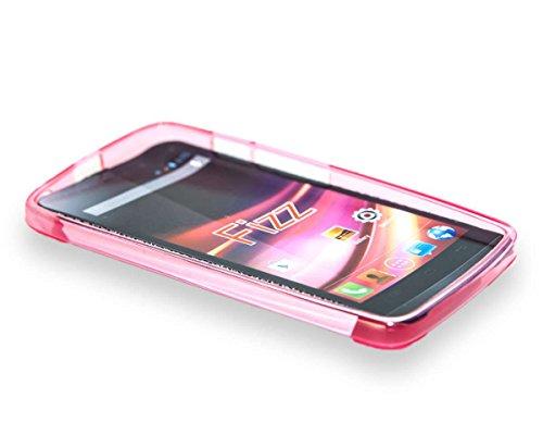 caseroxx TPU-Hülle für Wiko Fizz, Handy Hülle Tasche (TPU-Hülle in pink)