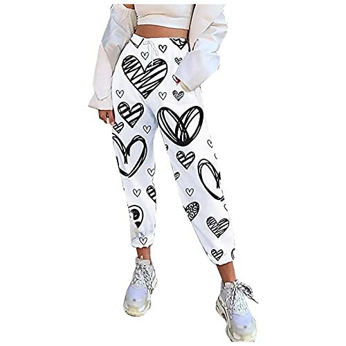 Pantalones Deportivos Mujer, Pantalones Chinos Mujer,Pantalon Termico Mujer, Pantalon Moto Mujer, Pantalones De Tirantes Casuales Para Mujer Con Pantalones Con Estampado De Cintura Elástica Pa