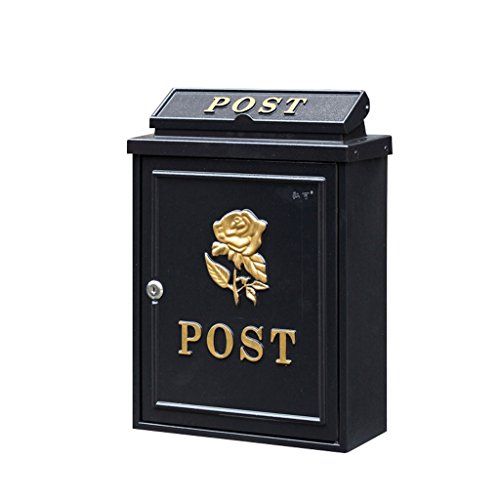 TLMY brievenbus Villa Outdoor brievenbus muur opknoping waterdichte doos Rose brievenbus