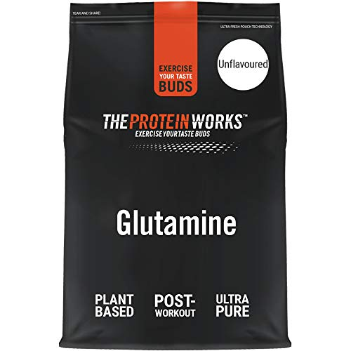 THE PROTEIN WORKS Pure Glutamine Powder | Vegan Amino Acid Powder | Post Workout Shake | Aids Recovery | Unflavoured | 500 g