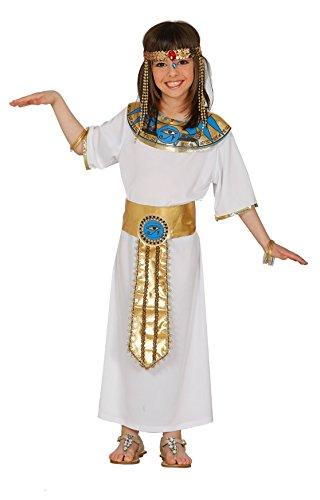FIESTAS GUIRCA Disfraz Blanco Nefertiti Reina egipcia niña Talla 10-12 años