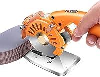 ファブリックカッター、電動回転切断機オレンジ全銅モーター、低ノイズ調整可能な速度、布と革のためのはさみ,110c/4cm