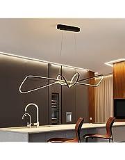 Led-hanglamp, eettafellampen, woonkamer, hangend, keukenlamp, plafondlamp, modern, dimbaar, met afstandsbediening, eetkamerlamp voor slaapkamer, badkamer, salontafel, decoratieve plafondlamp