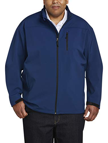 Amazon Essentials Men's Water-Resistant Softshell Jacket, Navy, Large