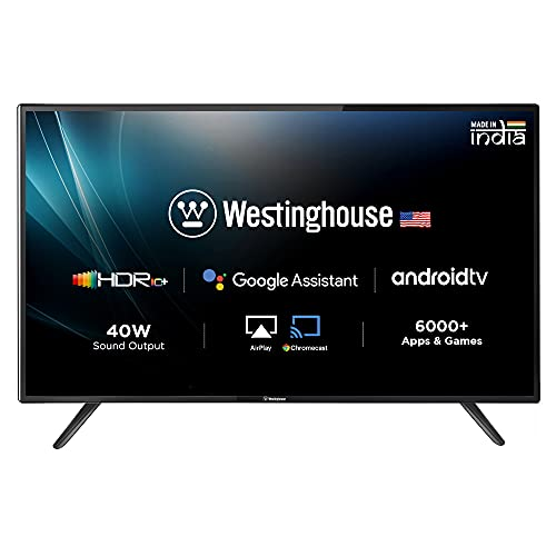 Westinghouse 139 cm (55 Inches) 4K Ultra HD Smart Certified Android LED TV WH55UD45 (Black) (2021 Model)