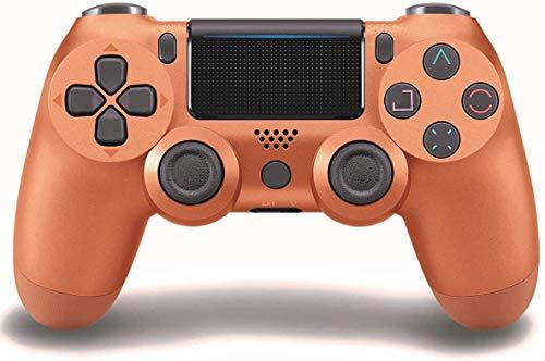 Controlador de jogo para PS4 (cobre), dupla vibração compatível com Windows PC e sistema operacional Android, controlador sem fio Bluetooth para Playstation 4