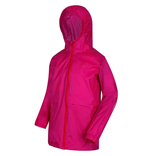 Regatta Kid PK It III Veste imperméable Mixte Enfant, Cabaret, FR : XXS (Taille Fabricant : 15-16)