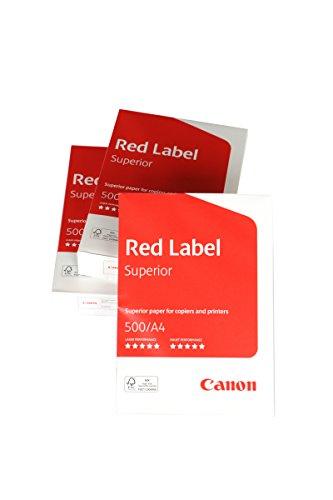 Canon Deutschland Red Label Superior Geschäftspapier, 3x 500 Blatt FSC zertifiziert, A4, 80g/m², alle Drucker hochweiß CIE 168 (optimierte Schutzverpackung)