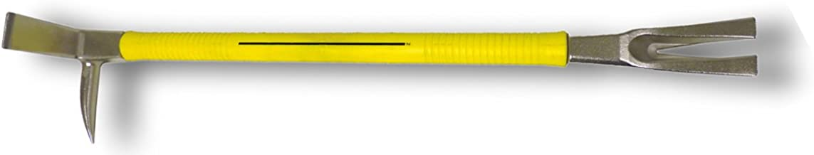 Nupla 33803 Yellow Nuplaglas Handle Steel Claw and Pry Halligan Tool, 24