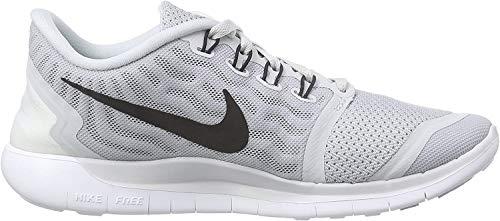 Nike Womens Free 5.0 Running Shoe Pure Platinum/Wolf Grey/Cool Grey/Black 9